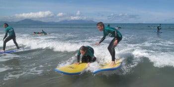 Surf lessons at Inch beach and Banna beach