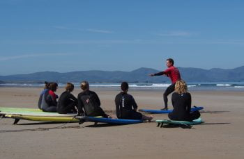 Banna surf lesson county kerry