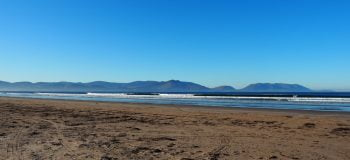 surfing at inch beach county kerry