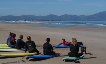 group surf lessons at banna beach county kerry