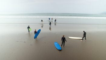 surf lessons inch county kerry ireland